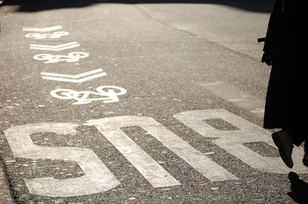 Велосипедная разметка в Париже