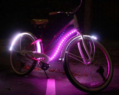 Светодиодная подсведка для колес велосипеда