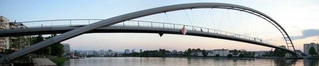 Велосипедный мост через Рейн