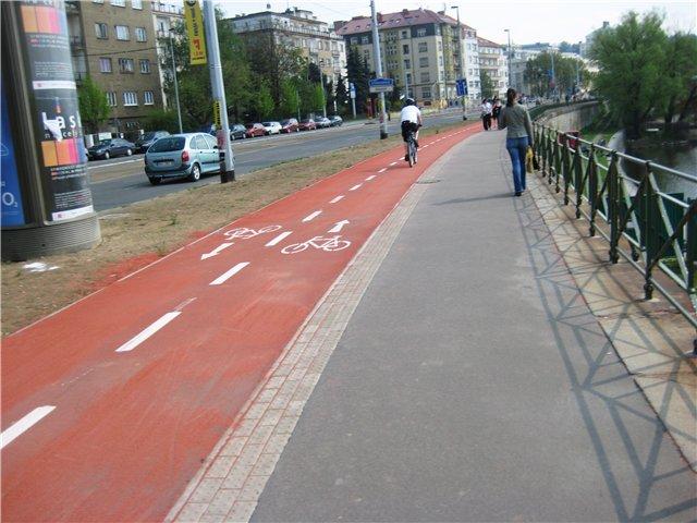 Велодорожки в Праге